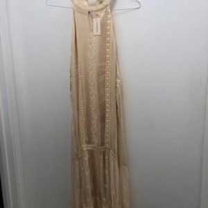 Cream halter dress. New with tags from Sundance